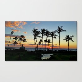 As The Sun Goes Down Canvas Print