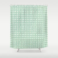 polka dots Shower Curtains featuring polka dots by JesseRayus