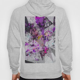 vintage psychedelic triangle polygon pattern abstract in purple pink yellow blue Hoody