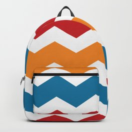 Blue Red Orange Chevron Backpack