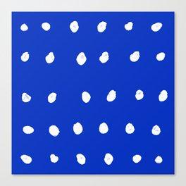 Dots - Royal Blue Canvas Print