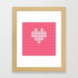 Love Valentine heart Framed Art Print