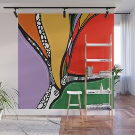 J'y arrive - Getting there. Wall Mural