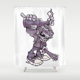 Anarchy Skeleton - Amethyst Smoke Shower Curtain