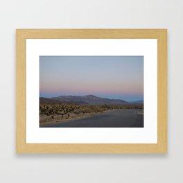 Cactus Garden Sunset Framed Art Print