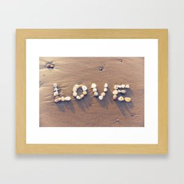 Love Rocks Framed Art Print
