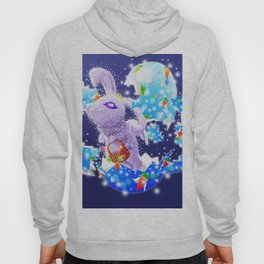 'You Cracked the Egg' Series - Easter Angelic Bunny with Premium Background Hoody