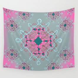 Twists and turns pink background Wall Tapestry