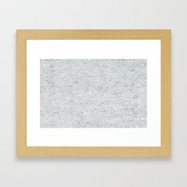 White Washed Brick Wall Stone Cladding Framed Art Print