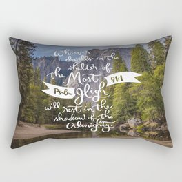 Psalm 91 with Background Rectangular Pillow