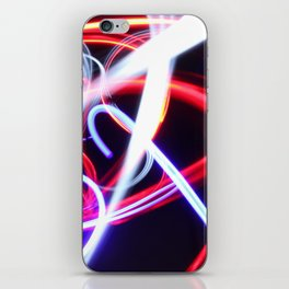 Lightpainting abstract iPhone Skin