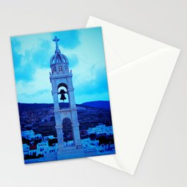 Pyrgos church bell Stationery Cards