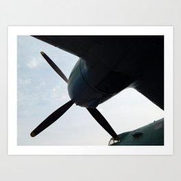 Aviation engine propellers Art Print