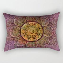 """Purple Mulberry violet shades & Gold Metal Mandala (pattern)"" Rectangular Pillow"