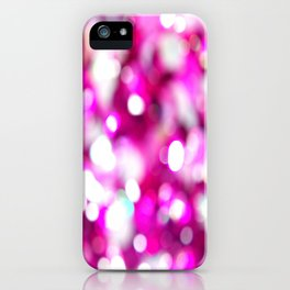 Pink Magenta White Macro Blur Glitter Sequins Closeup  iPhone Case