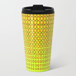 CONTEMPORARY MODERN YELLOW-ORANGE OPTIC Travel Mug