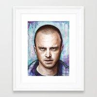 jesse pinkman Framed Art Prints featuring Jesse Pinkman by Olechka