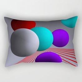 converging lines and balls -2- Rectangular Pillow