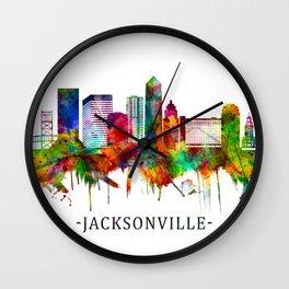 Jacksonville Florida Skyline Wall Clock