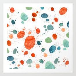 ramdom watercolor Art Print
