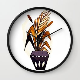 Potted plant Wall Clock