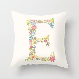 Alphabet E Throw Pillow
