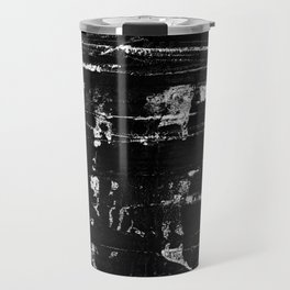 Distressed Grunge 102 in B&W Travel Mug