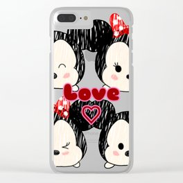 Mickey And Minnie Love Tsums Clear iPhone Case