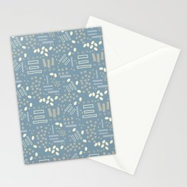Graphic Blue Pattern Stationery Cards
