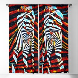 6805-LB Two Become as One Love Energy Abstraction Blackout Curtain