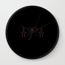 Coffee Heartbeat Wall Clock