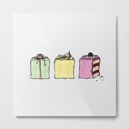 P is for Petit Four Metal Print