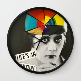 Life's an Adventure Wall Clock