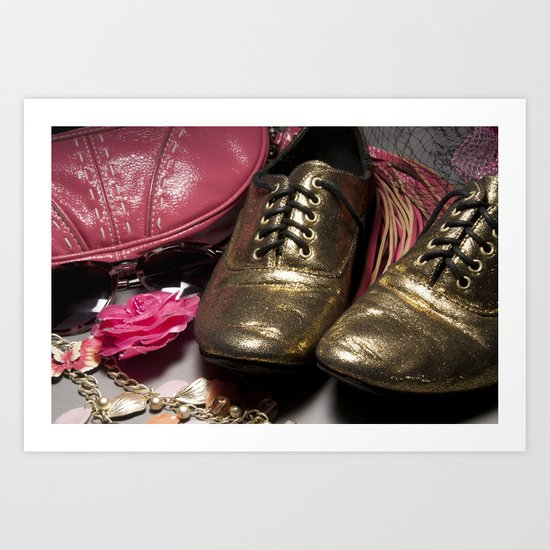 Shoe ad composition 2 Art Print