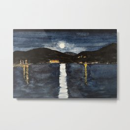 full moon by the sea Metal Print