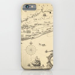 1925 Vintage Historical Map of Long Island and the Sound iPhone Case