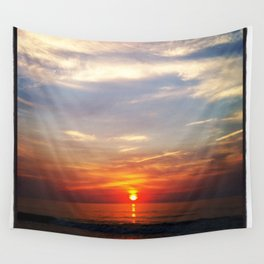 New Day in Seaside Park Wall Tapestry