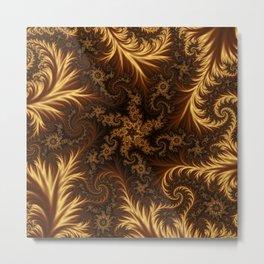 Golden Tapestry Metal Print
