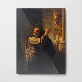 Samson Threatening His Father-in-Law Metal Print