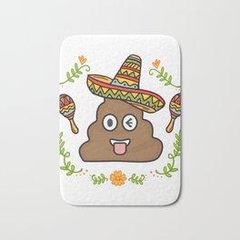 Emoji Poop Cinco De Mayo Funny Bath Mat