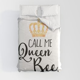 Queen Bee Funny Quote Comforters