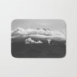 Volcano Misti in Arequipa Peru Covered with Clouds Bath Mat
