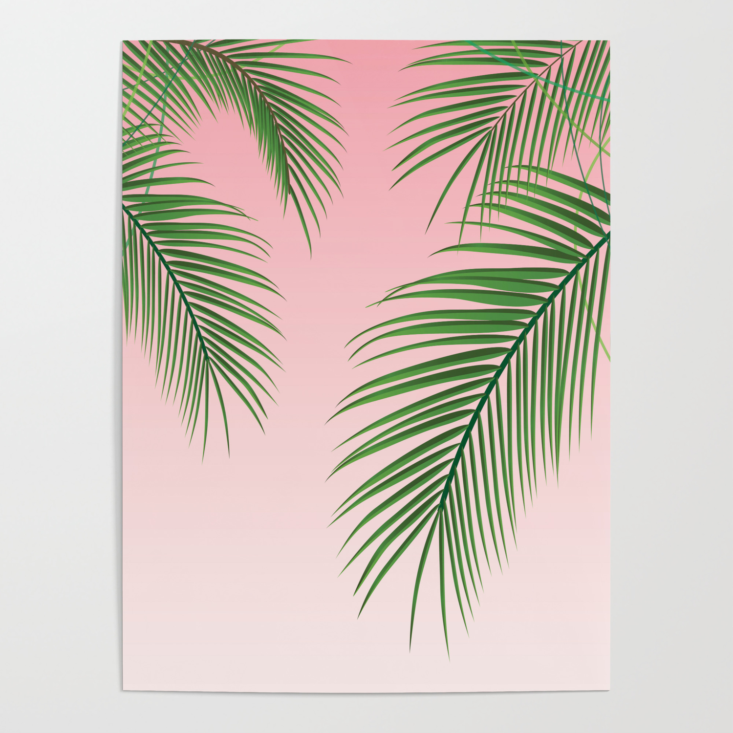 Palm Tree Leaves Poster By Crnicole Society6