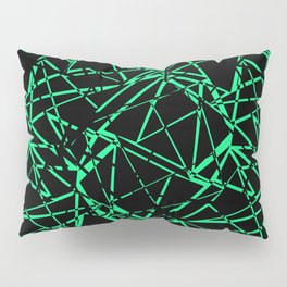 Abstract black and green pattern .Line . Pillow Sham