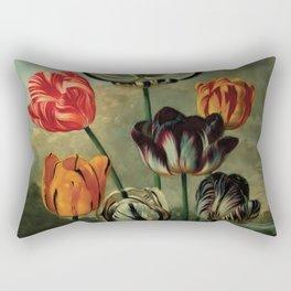 tulips by Robert John Thornton (1807) Rectangular Pillow