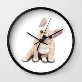 Cream Frenchie Wall Clock