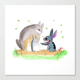 Ohana Means Family Canvas Print