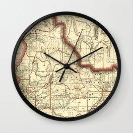 Vintage Map of Idaho (1896) Wall Clock