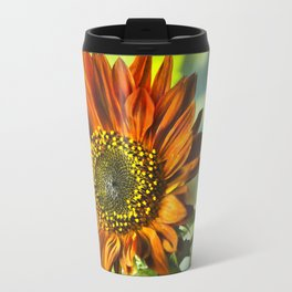 Orange Sunflower Travel Mug