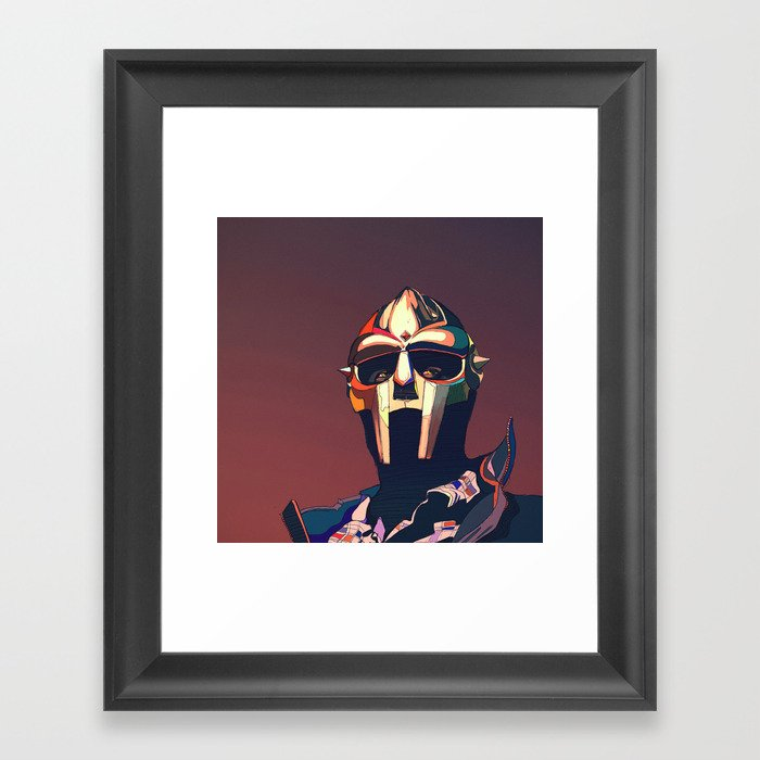MF Doom vector art 2 Gerahmter Kunstdruck
